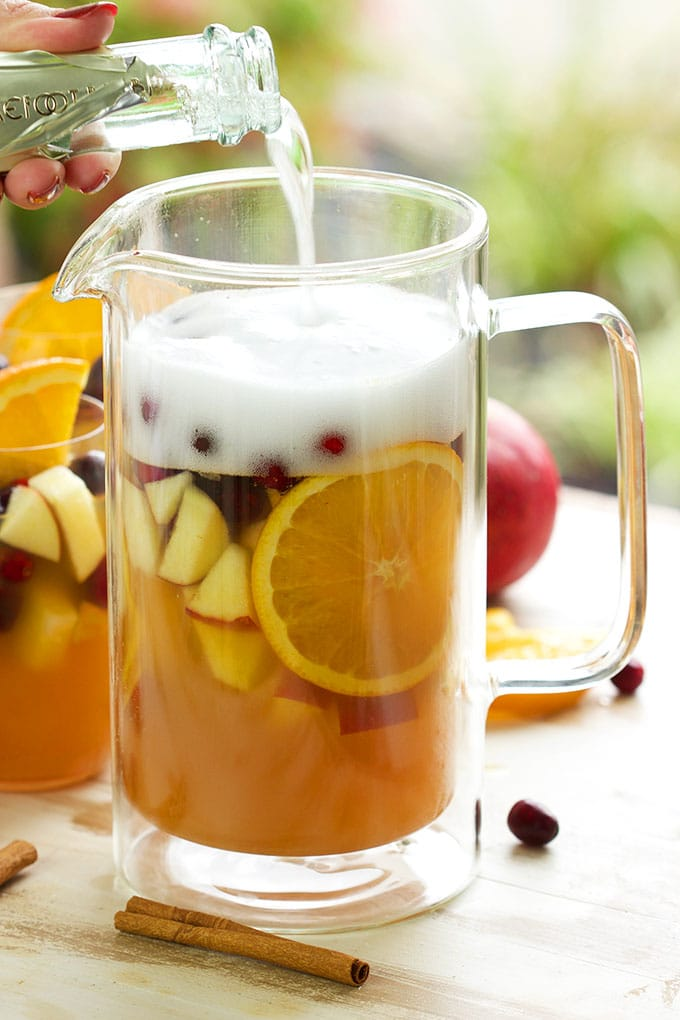 Sparkling Apple Cider Sangria | TheSuburbanSoapbox.com