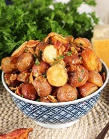 Bacon Parmesan Roasted Potatoes | TheSuburbanSoapbox.com #roastedpotatoes #recipe