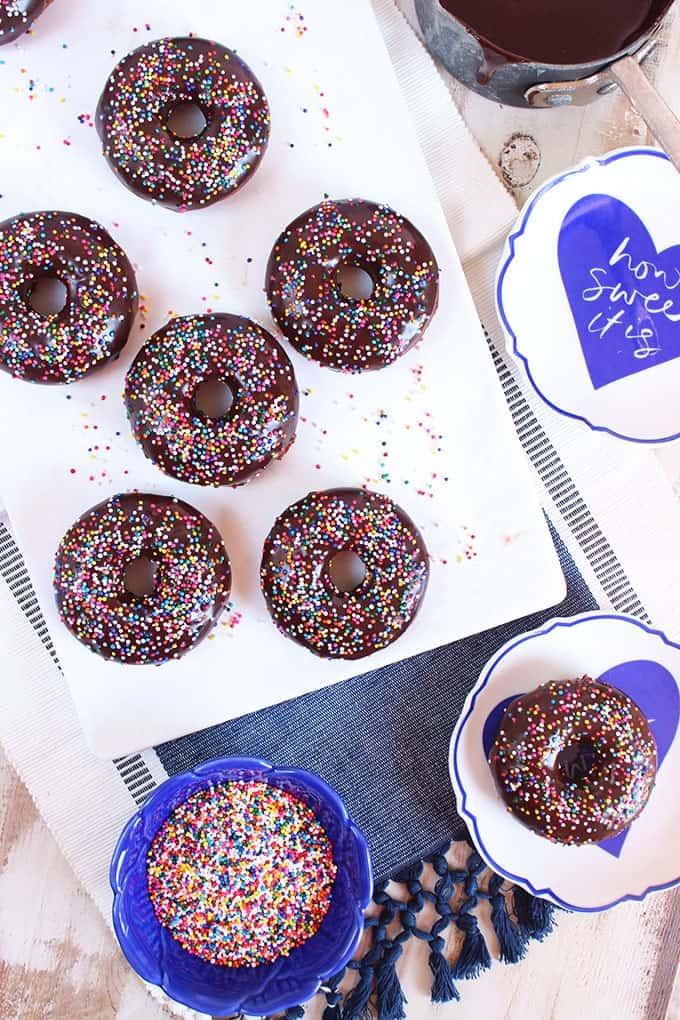Baked Chocolate Glazed Donuts | TheSuburbanSoapbox.com