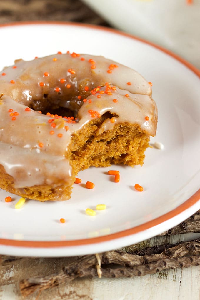 Two Ingredient Baked Pumpkin Spice Donuts | TheSuburbanSoapbox.com