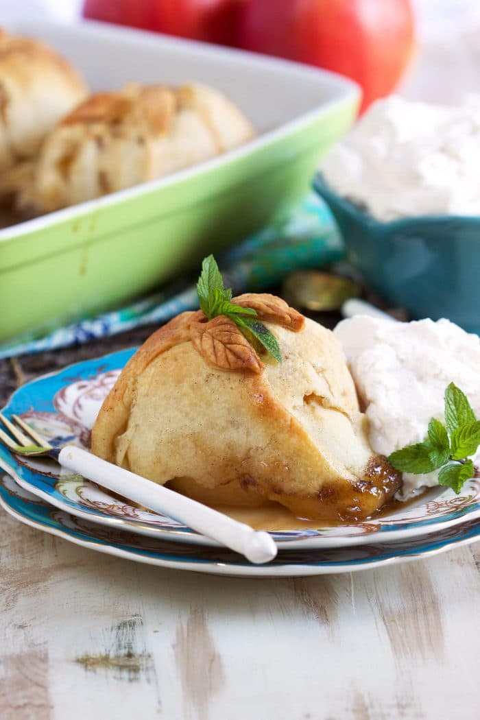 Super easy to make Apple Dumpling recipe is a classic worth bragging about. Tender, juicy apples wrapped in pastry and baked to perfection. | TheSuburbanSoapbox.com