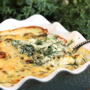 Cheesy Kale Gratin Recipe   TheSuburbanSoapbox.com