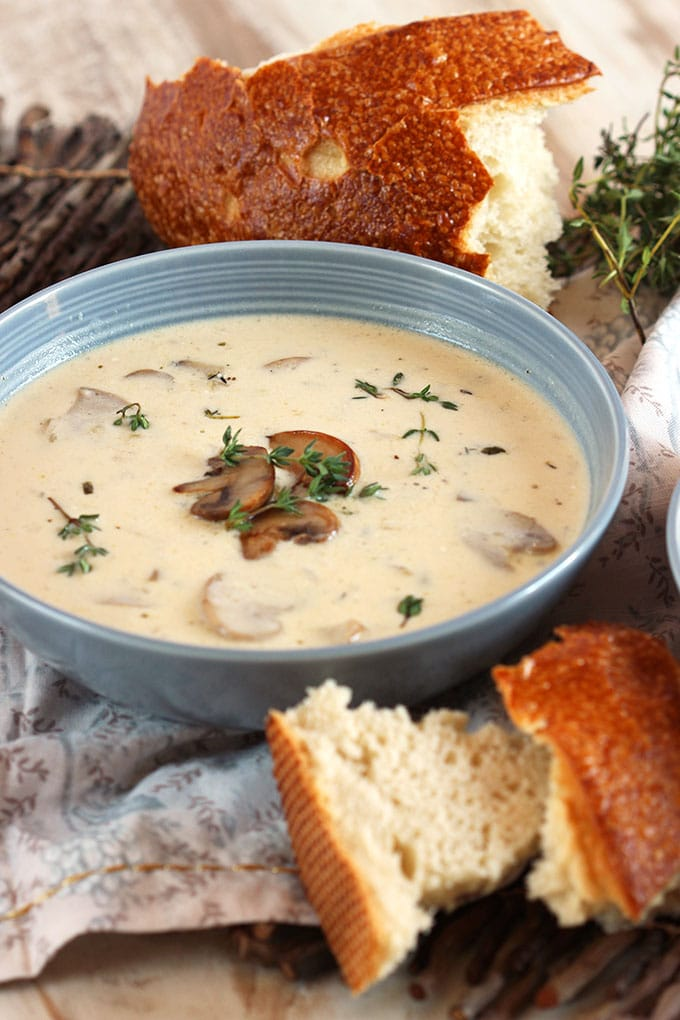 Easy Cream of Mushroom Soup Recipe | TheSuburbanSoapbox.com