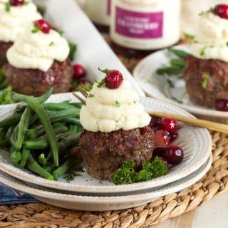 Mini Meatloaf Cupcakes with Cranberry Glaze | ThesuburbanSoapbox.com