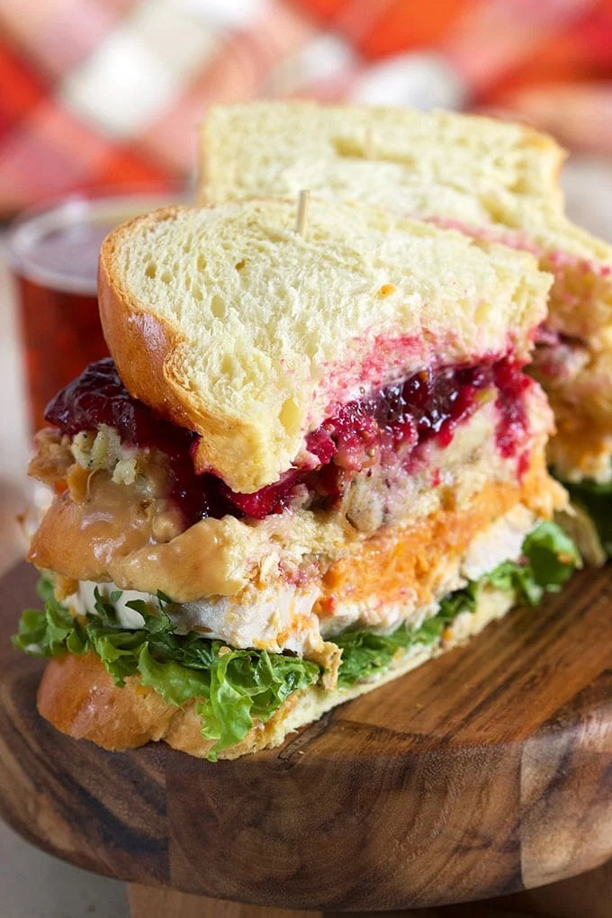 The One with Ross's Sandwich....this is THE Leftover Thanksgiving Turkey Sandwich you MUST make...complete with the Moist Maker! | Thesuburbansoapbox.com
