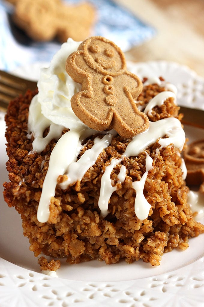 Easy Gingerbread Baked Oatmeal Recipe | TheSuburbanSoapbox.com