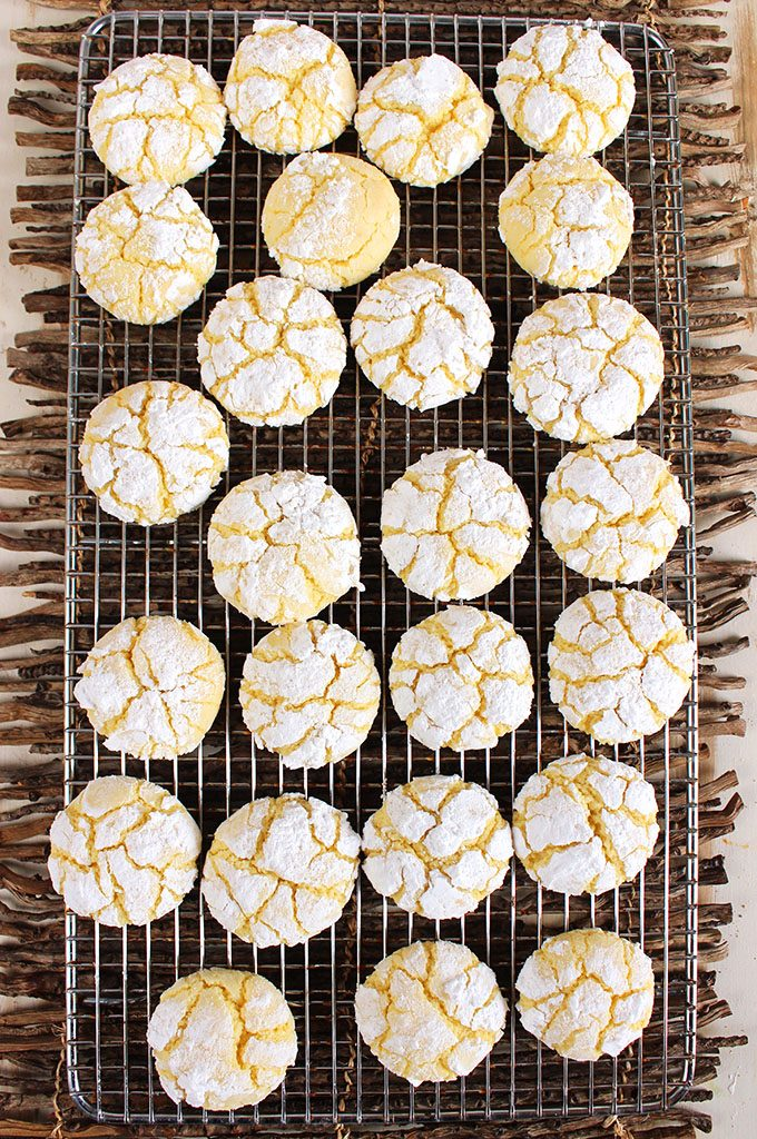 Gooey Butter Cake Cookies Recipe from Scratch | TheSuburbanSoapbox.com