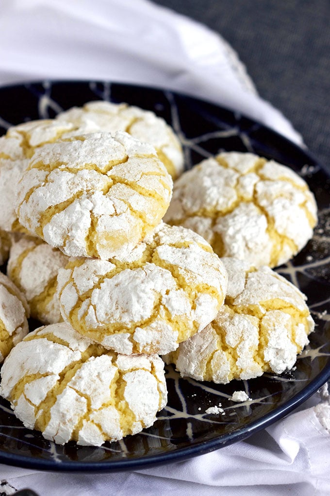 Gooey Butter Cake Cookies From Scratch