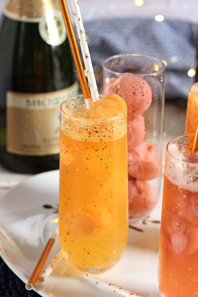 Easy Mimosa Float Recipe | theSuburbansoapbox.com