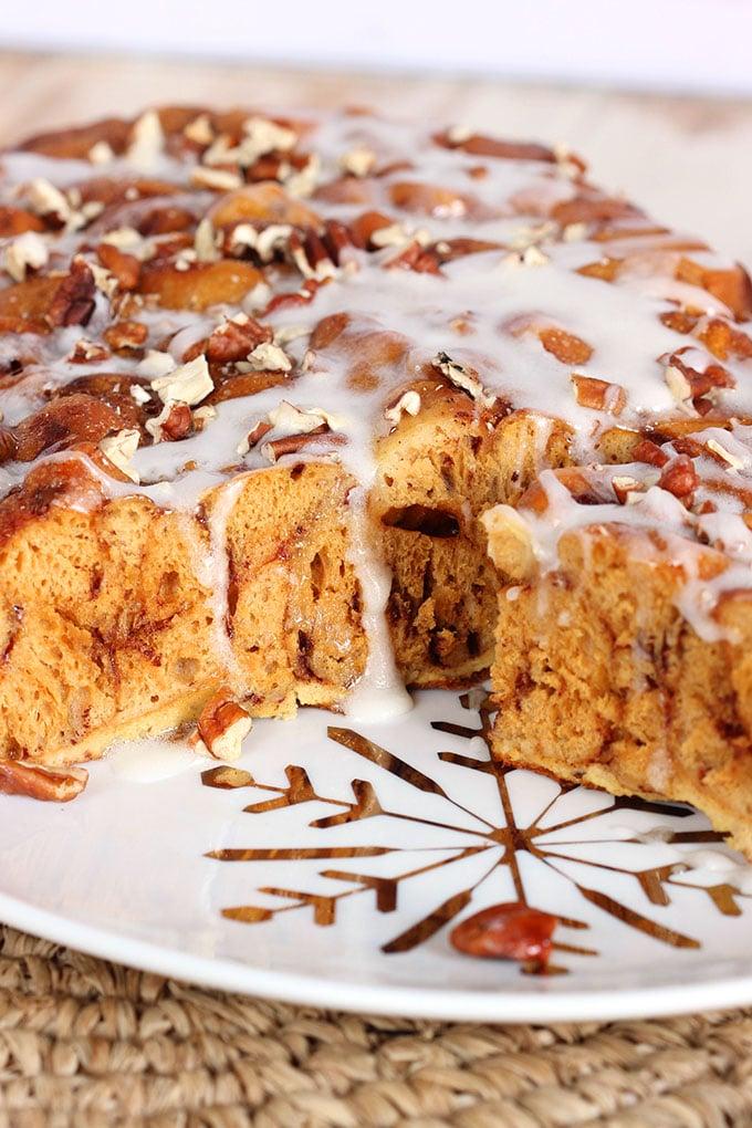 Slow Cooker Cinnamon Roll French Toast Casserole | TheSuburbanSoapbox.com