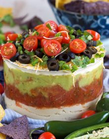7 Layer Mexican Hummus Dip | TheSuburbanSoapbox.com