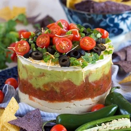 7 Layer Mexican Hummus Dip | TheSuburbanSoapbox.com