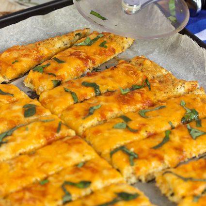 Easy Cheesy Cauliflower Breadsticks Recipe | theSuburbanSoapbox.com