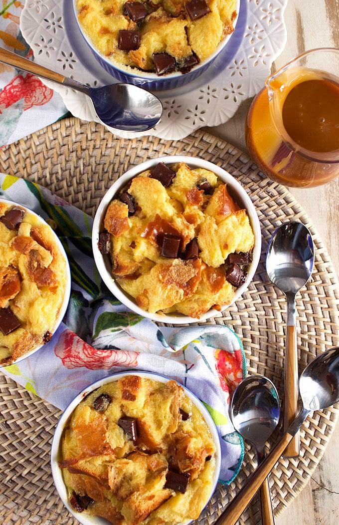 Brioche Chocolate Chunk Bread Pudding | thesuburbansoapbox.com