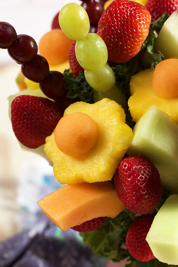 How to Make an Edible Fruit Bouquet | TheSuburbanSoapbox.com