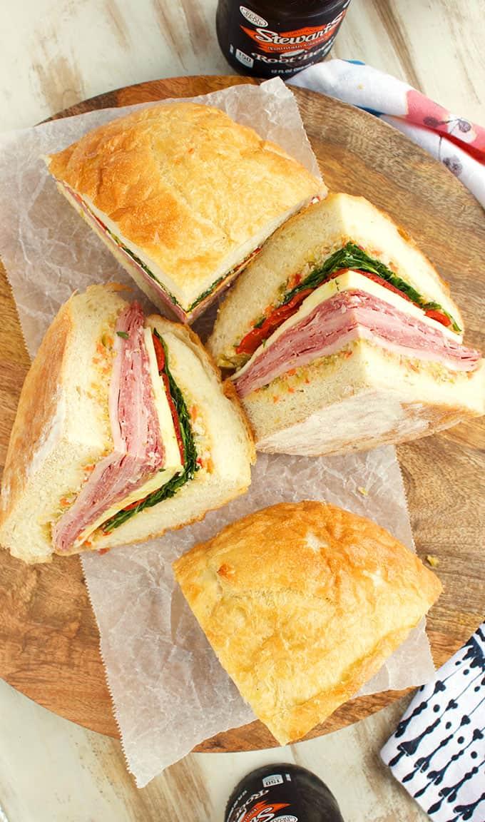 New Orleans Classic Muffuletta Sandwich Recipe   thesuburbansoapbox.com