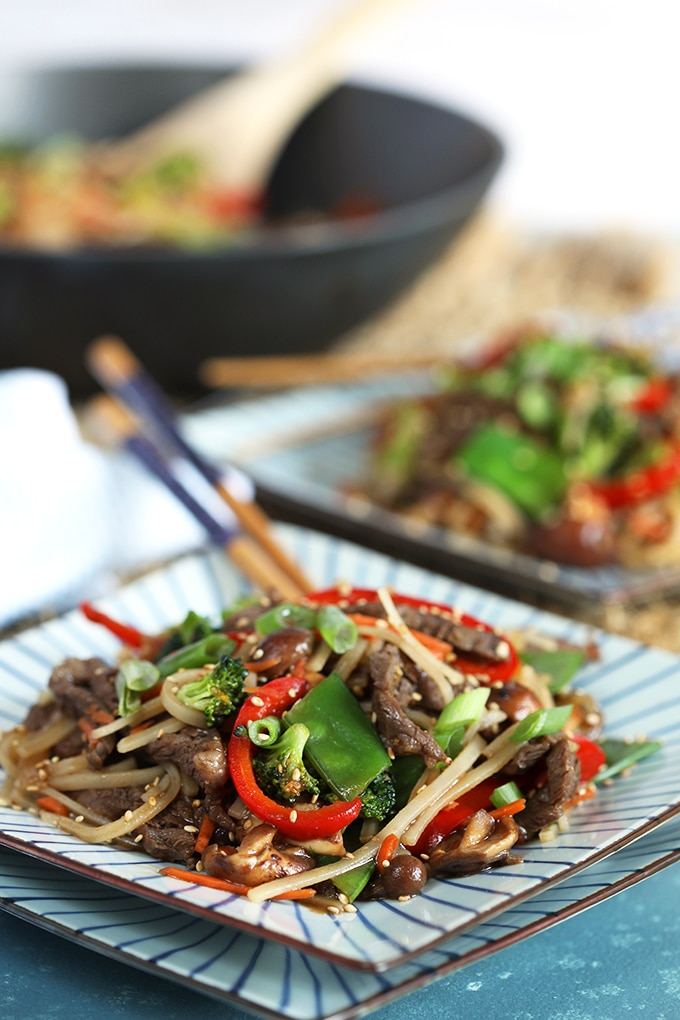 Easy Beef Stir Fry With Rice Noodles The Suburban Soapbox