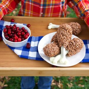 Easy Rice Krispie Treat Turkey Legs | theSuburbansoapbox.com