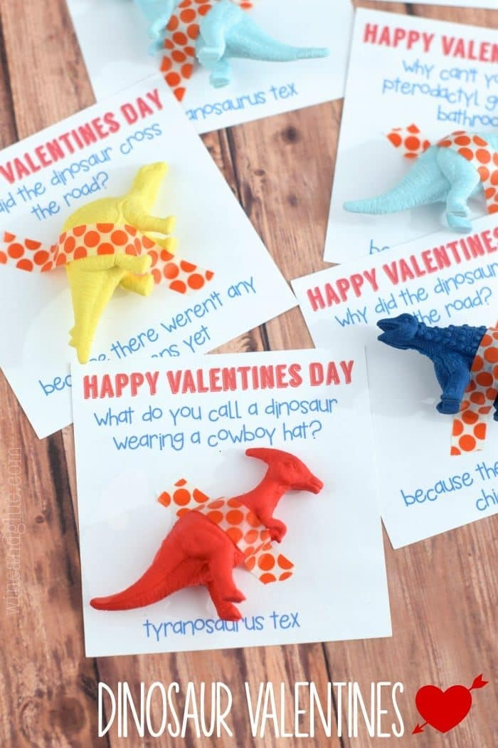 Dinosaur Valentine Cards with a free printable.