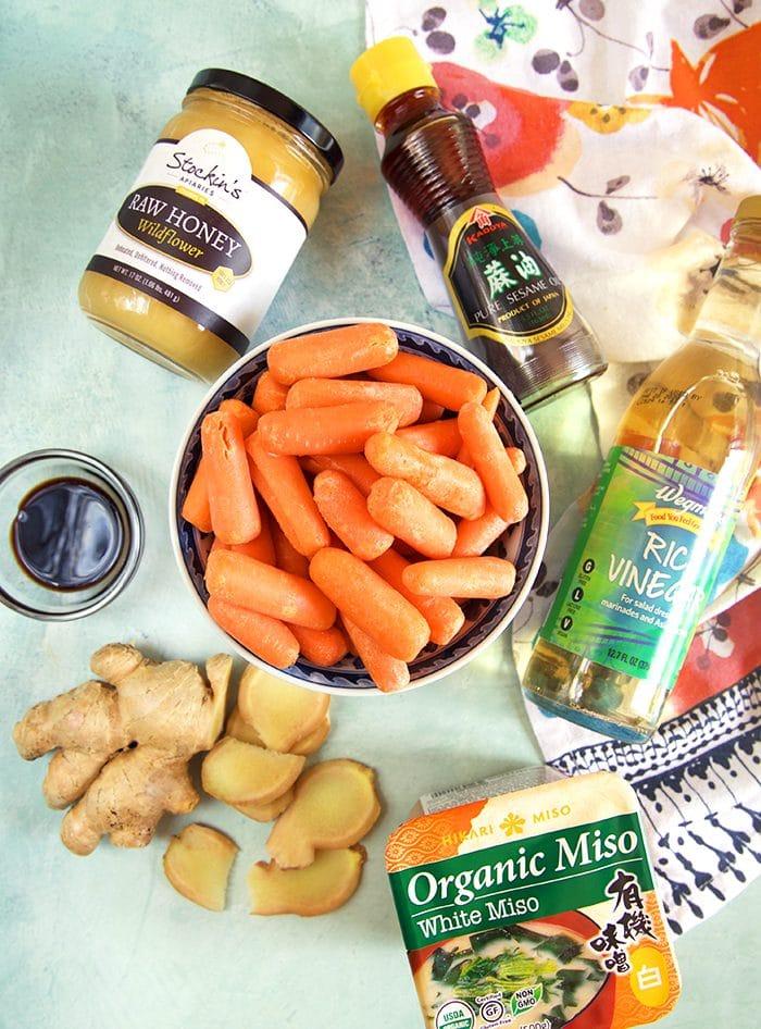 Ingredients for ginger dressing.