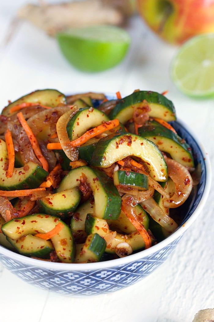 Quick Korean Cucumber Kimchi The Suburban Soapbox