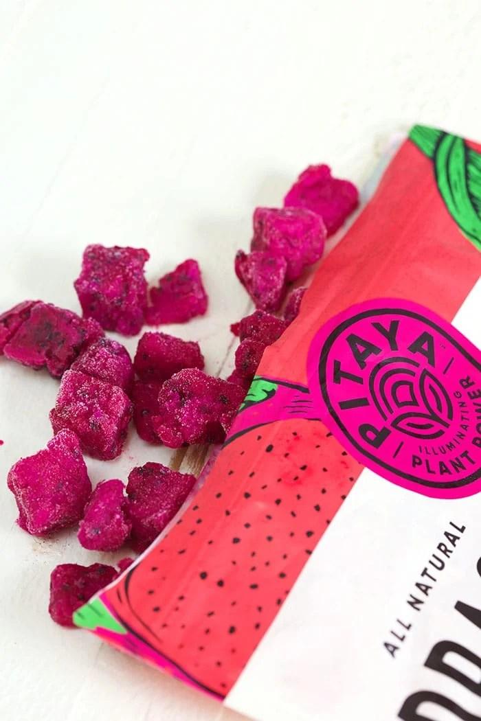 Bag of frozen pitaya