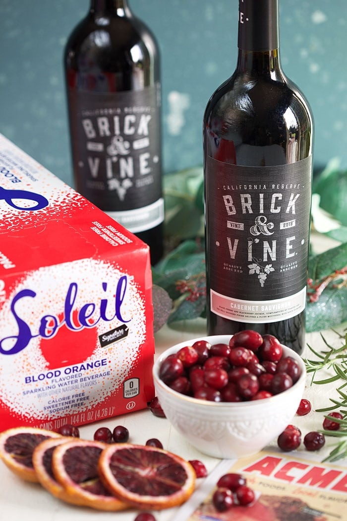 Ingredients for Christmas Sangria from ACME Markets.