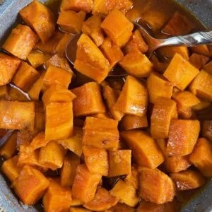 Stove Top Candied Yams in a saucepan.