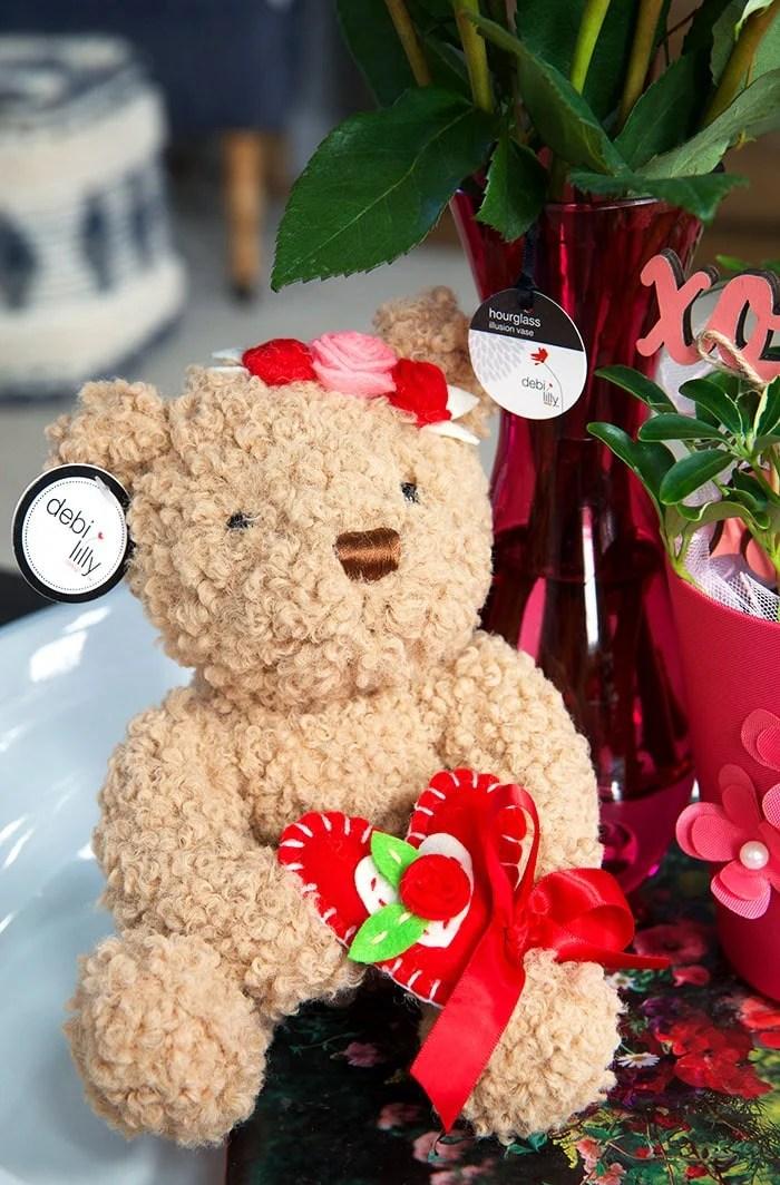 teddy bear with a flower crown