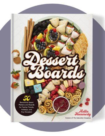Dessert Boards cookbook cover mockup