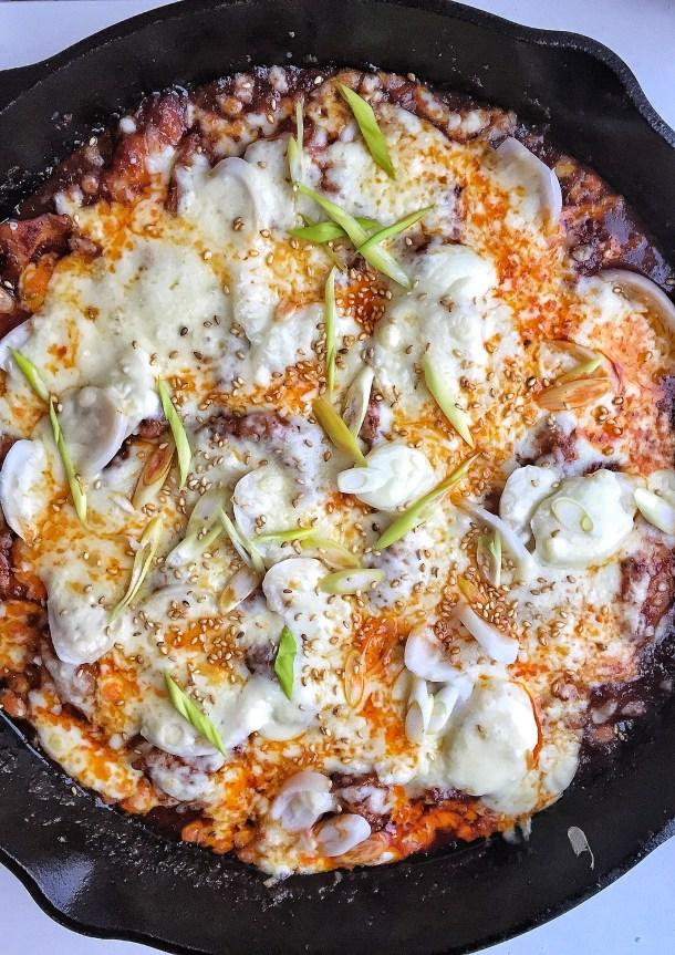 Korean Cheese Buldak aka Fire Chicken