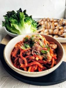Bo Ssam + Radish Kimchi with Oysters