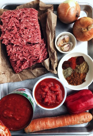 Basic Chili ingredients