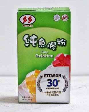 box of gelatine