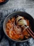 noodles on chopsticks
