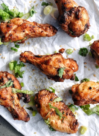 air fryer crispy chicken wings on parchment paper