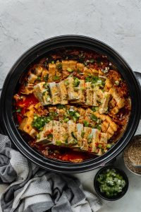 braised korean kimchi in pot