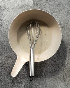 batter for okonomiyaki in bowl