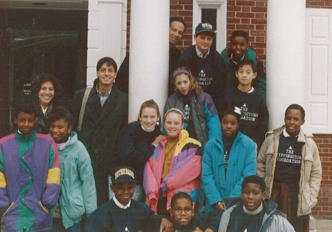 1991 - Founders John Simon and Mike Danziger with the first class of Scholars