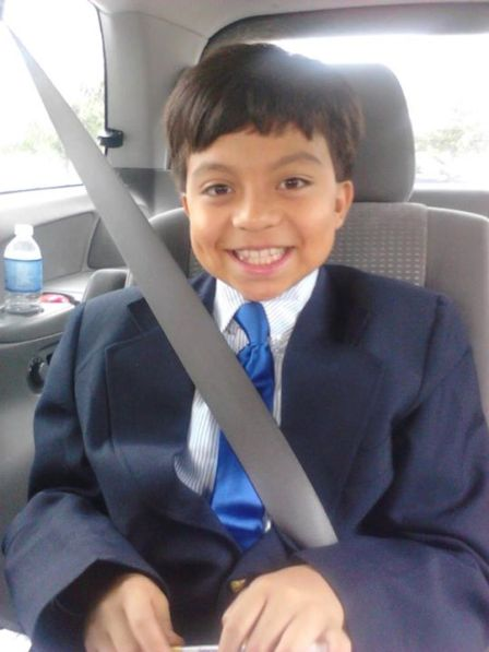 2011 - A Scholar happily heads home after his very first independent school interview