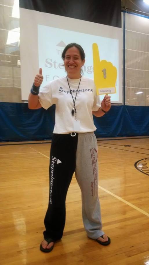 2014 - Ms. Arcangeli wears as much Steppingstone Swag as possible (we love the TSA/CSA sweatpants!)