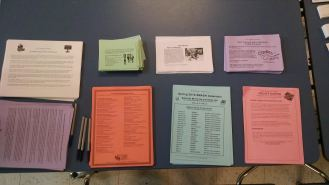 The resource table was full of useful information and reminders about upcoming events and opportunities!