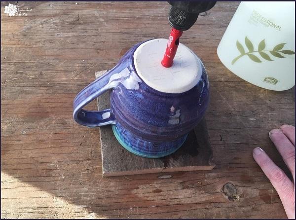 Drilling Holes in Ceramic Pot