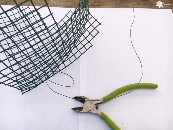 wire together topiary heart form