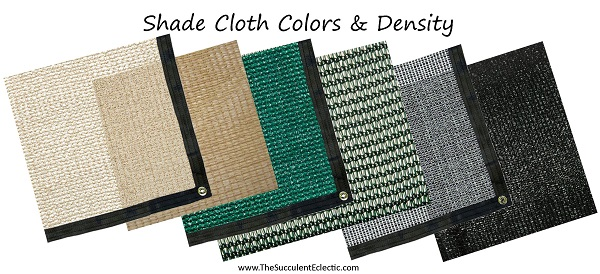 how to choose shade cloth colors and density
