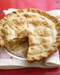 traditional apple pie via martha stewart