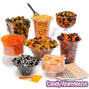 halloween candy buffet via candy warehouse