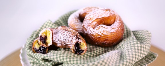 carla hall and clinton kelly stuffed crullers via abc the chew
