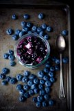goat cheese mousse with roasted blueberries via savory simple