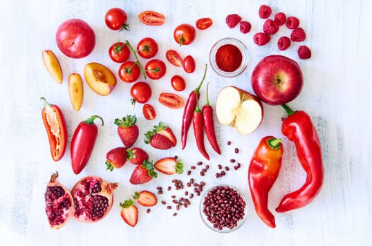 red foods image via shutterstock